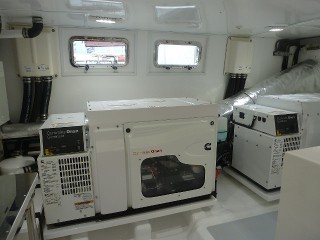 Generators in insulated room